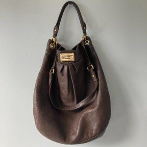 MARC JACOBS Hillier Classic Hobo Chocolate Brown